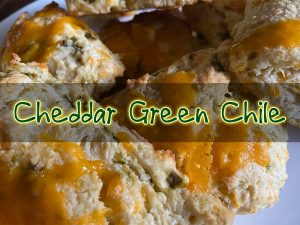 cheddar green chile scone