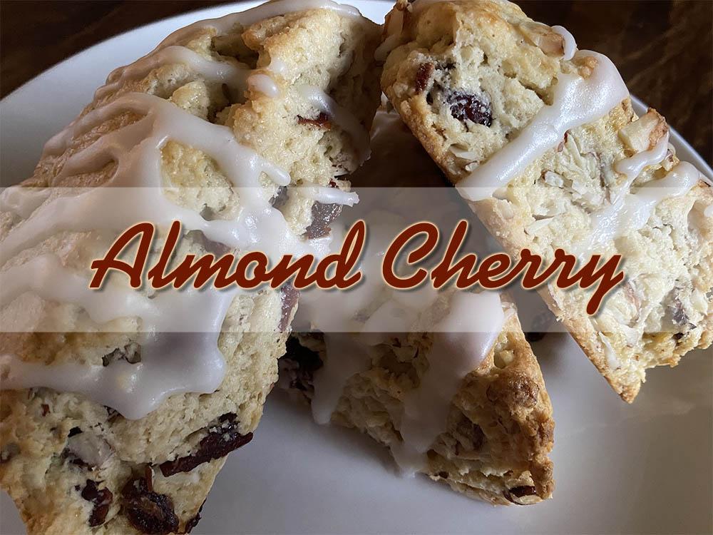 new almond cherry scone