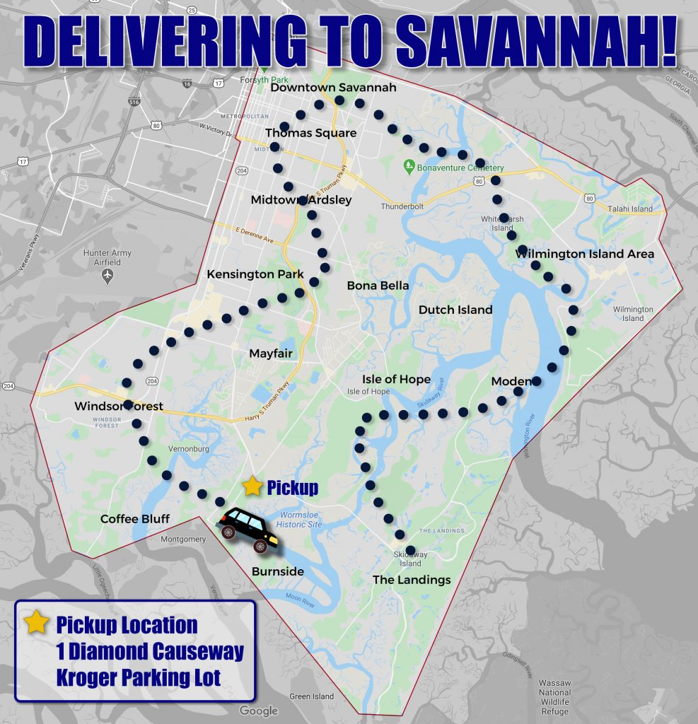 delivery map spring 2021