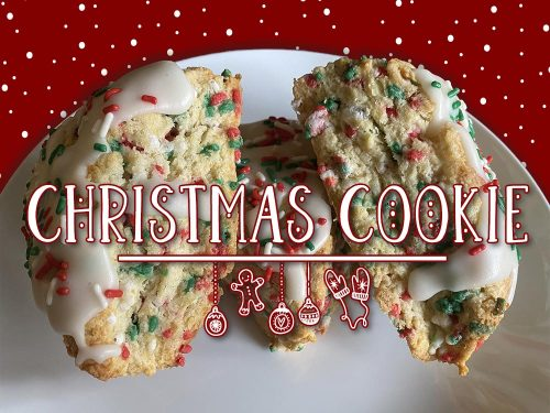christmas cookie scone