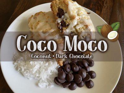 coco moco coconut scone