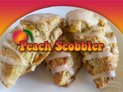 peach scobbler new scone