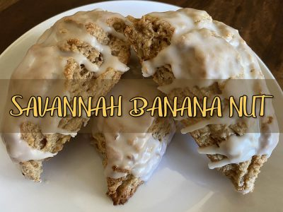 savannah banana nut scone